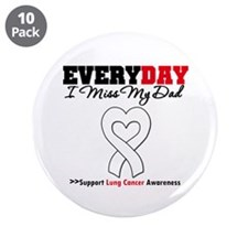 "LungCancer MissMyDad 3.5"" Button (10 pack)"