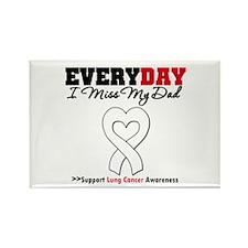 LungCancer MissMyDad Rectangle Magnet (10 pack)
