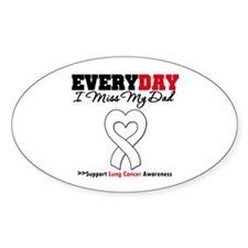 LungCancer MissMyDad Oval Sticker (10 pk)