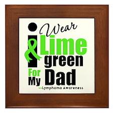 I Wear Lime Green For Dad Framed Tile