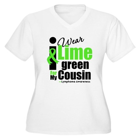 I Wear Lime Green Cousin Women's Plus Size V-Neck
