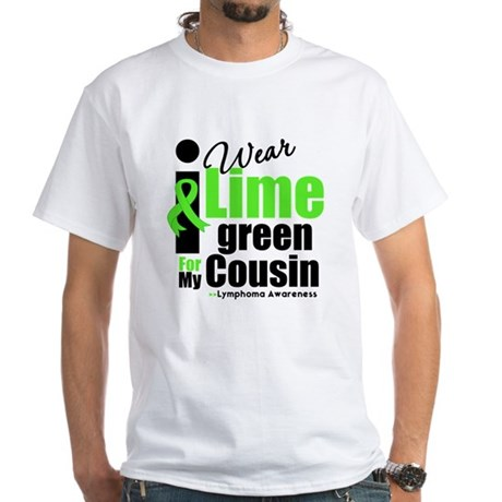 I Wear Lime Green Cousin White T-Shirt