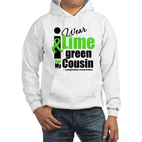 I Wear Lime Green Cousin Hooded Sweatshirt