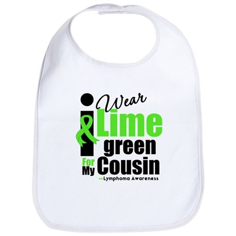 I Wear Lime Green Cousin Bib