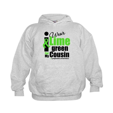 I Wear Lime Green Cousin Kids Hoodie