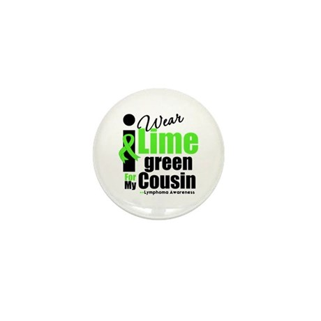 I Wear Lime Green Cousin Mini Button (100 pack)