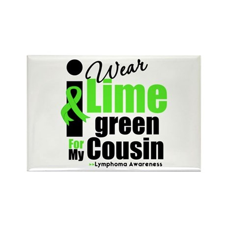 I Wear Lime Green Cousin Rectangle Magnet