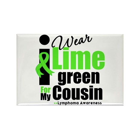 I Wear Lime Green Cousin Rectangle Magnet (100 pac