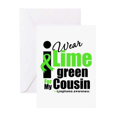 I Wear Lime Green Cousin Greeting Card