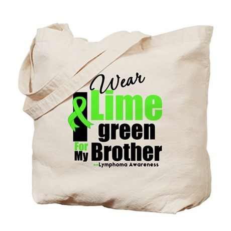 I Wear Lime Green For Brother Tote Bag
