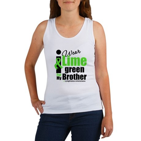 I Wear Lime Green For Brother Women's Tank Top