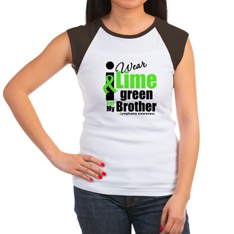 I Wear Lime Green For Brother Women's Cap Sleeve T