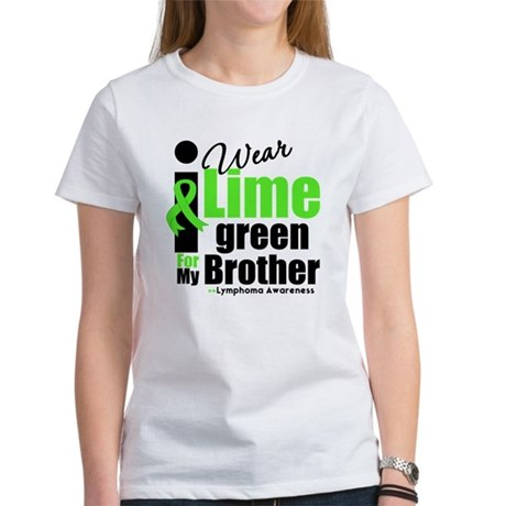I Wear Lime Green For Brother Women's T-Shirt