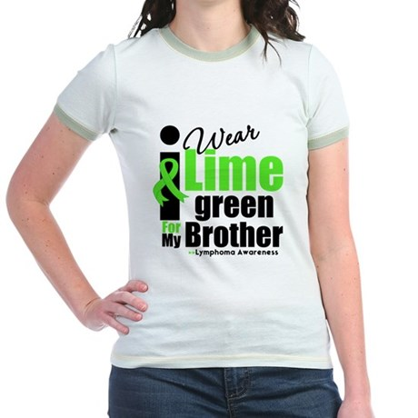 I Wear Lime Green For Brother Jr. Ringer T-Shirt