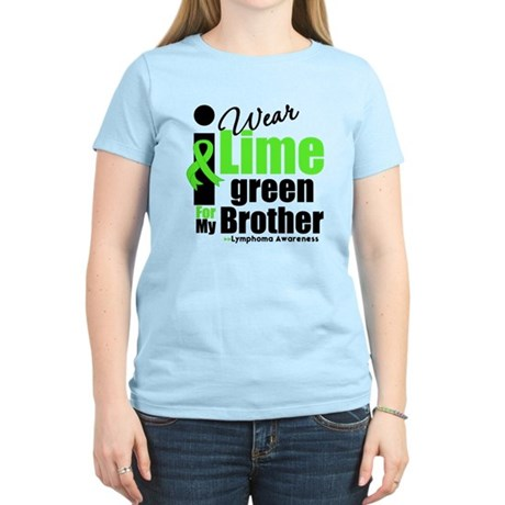 I Wear Lime Green For Brother Women's Light T-Shir