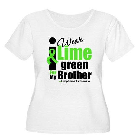 I Wear Lime Green For Brother Women's Plus Size Sc