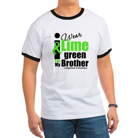 I Wear Lime Green For Brother Ringer T