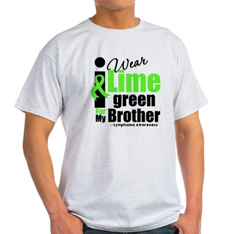 I Wear Lime Green For Brother Light T-Shirt