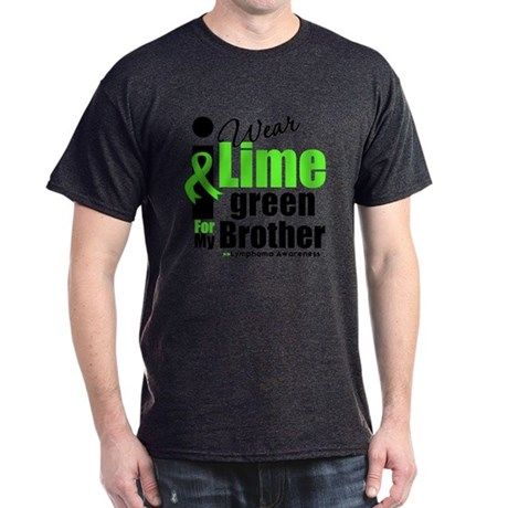 I Wear Lime Green For Brother Dark T-Shirt