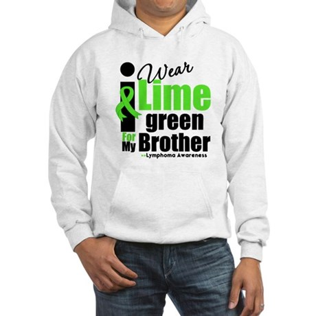 I Wear Lime Green For Brother Hooded Sweatshirt
