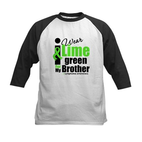 I Wear Lime Green For Brother Kids Baseball Jersey