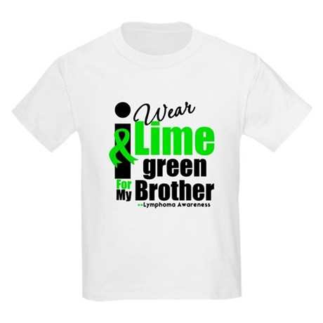 I Wear Lime Green For Brother Kids Light T-Shirt