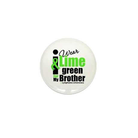 I Wear Lime Green For Brother Mini Button (100 pac