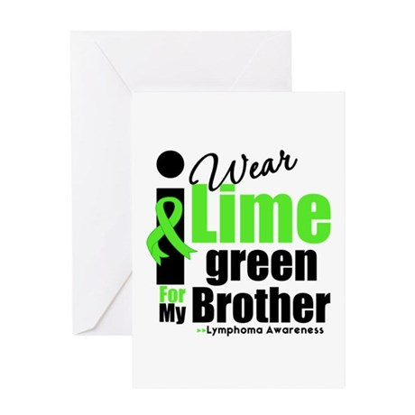 I Wear Lime Green For Brother Greeting Card