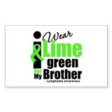 I Wear Lime Green For Brother Rectangle Decal