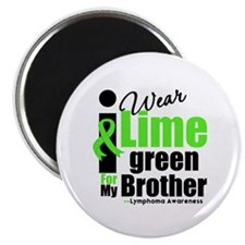 "I Wear Lime Green For Brother 2.25"" Magnet (100 pa"