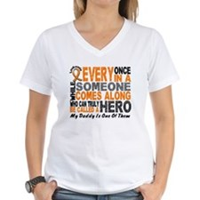 HERO Comes Along 1 Daddy LEUKEMIA Shirt