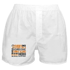 HERO Comes Along 1 Daddy LEUKEMIA Boxer Shorts