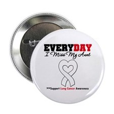 "LungCancer MissMyAunt 2.25"" Button (10 pack)"