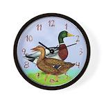 Mallard Ducks Wall Clock