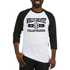 World's Greatest Italian Grandpa Baseball Jersey