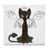 Cute Cat with wings Tile Coaster