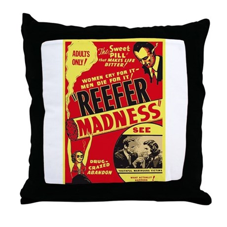 Vintage Reefer Madness Throw Pillow