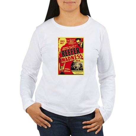 Vintage Reefer Madness Womens Long Sleeve T-Shirt