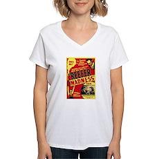 Vintage Reefer Madness Womens V-Neck T-Shirt