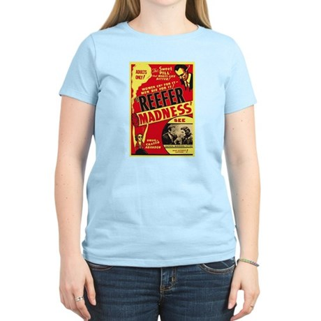 Vintage Reefer Madness Womens Light T-Shirt