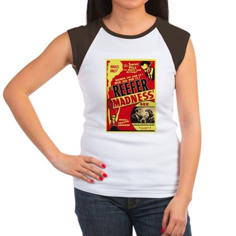 Vintage Reefer Madness Womens Cap Sleeve T-Shirt