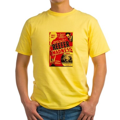 Vintage Reefer Madness Yellow T-Shirt