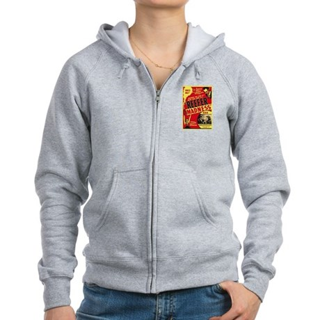 Vintage Reefer Madness Womens Zip Hoodie