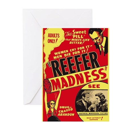 Vintage Reefer Madness Greeting Cards (Pk of 10)