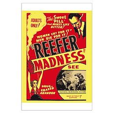 Vintage Reefer Madness Large Poster