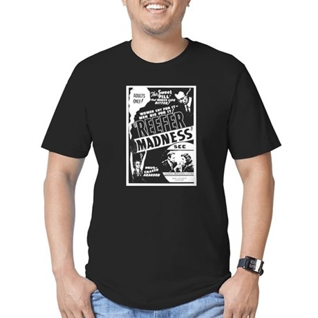 Vintage Reefer Madness Mens Fitted Dark T-Shirt