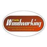 Family Woodworking Oval Sticker