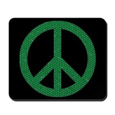 Green Peace Sign Mousepad