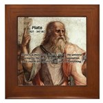Music and Plato Framed Tile