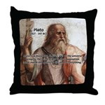 Music and Plato Throw Pillow